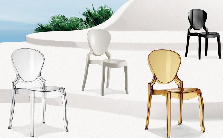 Pedrali queen sedia in policarbonato comprala scontata for Sedie design policarbonato